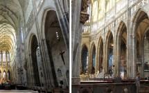 Interior gótico da Catedral de São Vito
