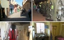 Viela Dourada. Lá há um museu de armaduras e representações das épocas em que era a casa da guarda (esq inferior) e de ourives (dir inferior)
