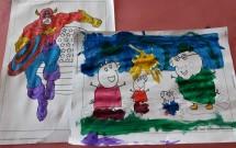 Pintura com Tinta Guache no Espaço Kids
