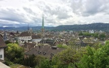 Vista de Zurique à partir da esplanada da ETH
