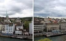 Vista da margem leste de Zurique, à partir do Lindenhof