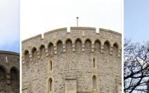 Destaques das fotos que tirei – Quando cheguei, era a bandeira do Reino Unido (esq). Depois ela sumiu do mastro (centro) e apareceu a bandeira da monarquia (dir). E eu não notei isso no dia!