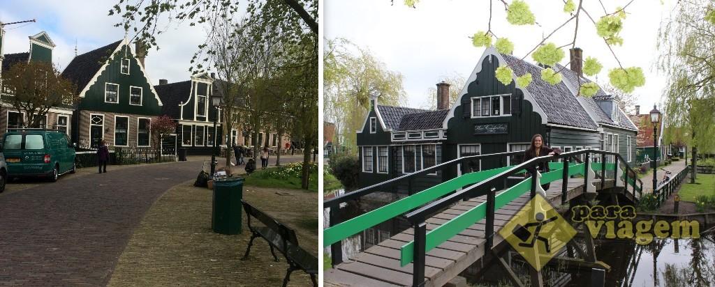 Uma bonita representação de um vilarejo rural em Zaanse Schans