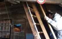 Escada de descida do moinho