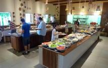 Buffet do Restaurante Parraxaxá