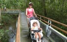 Mãe com Carrinho de Bebê nas Trilhas do Parque Nacional do Iguazú