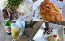 Pratos Servidos no Restaurante Castelus