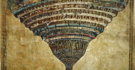 """Mapa do Inferno"" de Botticelli"