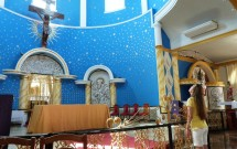 Altar da Igreja de San Lucas no City Tour em Ciudad del Este