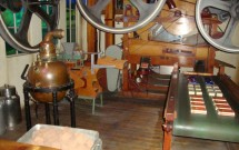 Maquinário antigo para produção de chocolate