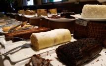 Mesa de Sobremesas do Restaurante Parraxaxá