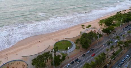 Vista da Praia de Boa Viagem em Recife