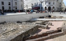 Ruínas romanas de Vindobona na Michaelerplatz
