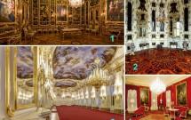 1) Quarto Vieux-Laque ; 2) Um dos Gabinetes Chineses ; 3) Grande Galeria; 4) Um dos elegantes aposentos do palácio, com retratos de membros dos Habsburgo. (Fonte: site oficial de Schönbrunn)