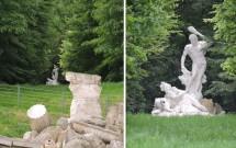 Hércules retratado nos fundos (e afastado) das Ruínas Romanas