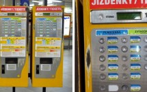 Máquinas onde compramos os bilhetes do transporte