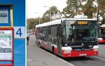 O ônibus de Praga e seu ponto