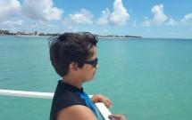 Percurso de barco até Areia Vermelha
