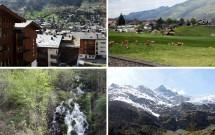 Viagem de Interlaken até Zermatt: campos verdes com vaquinhas, vilarejos perdidos no meio do nada, cachoeiras e picos nevados