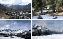 Passeio Gornergrat Bahn: a paisagem vai ficando mais nevada conforme sobe até o mirante