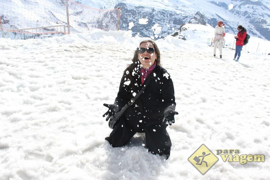 Voltando a ser criança na neve