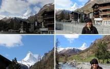 O tempo deu uma trégua e foi descortinando o Matterhorn