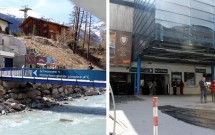 Acesso à estação Zermatt ZBAG-Iz e a bilheteria
