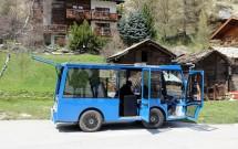 Ônibus que leva atá a estação ferroviária