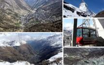 FURI até TROCKENER STEG – Passeio no teleférico tipo gôndola, com uma vista ainda mais incrível do vilarejo de Zermatt e dos primeiros pontos com neve