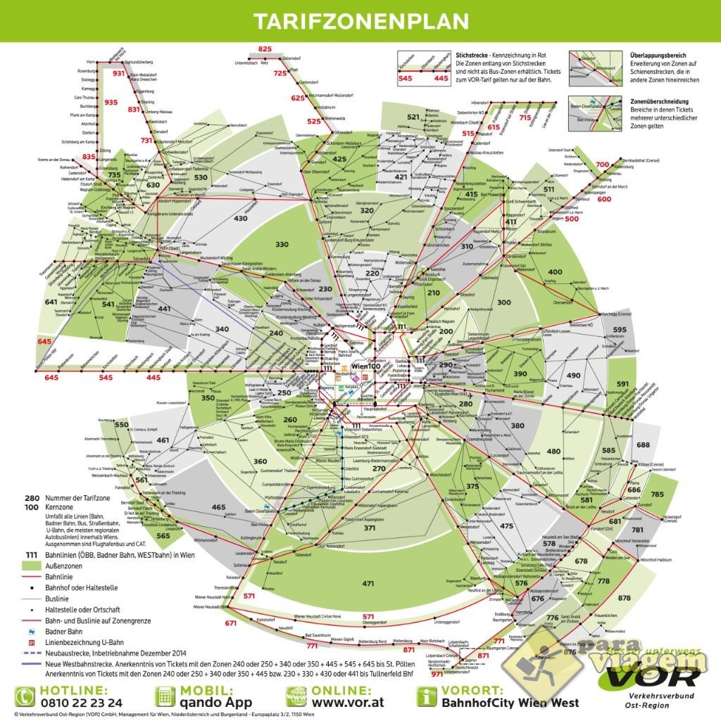 Zonas do transporte público de Viena