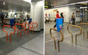 Não há catracas no metrô de Viena