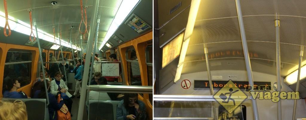Interior do metrô de Viena