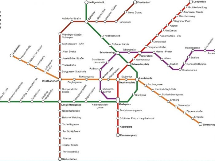 Mapa do metrô de Viena