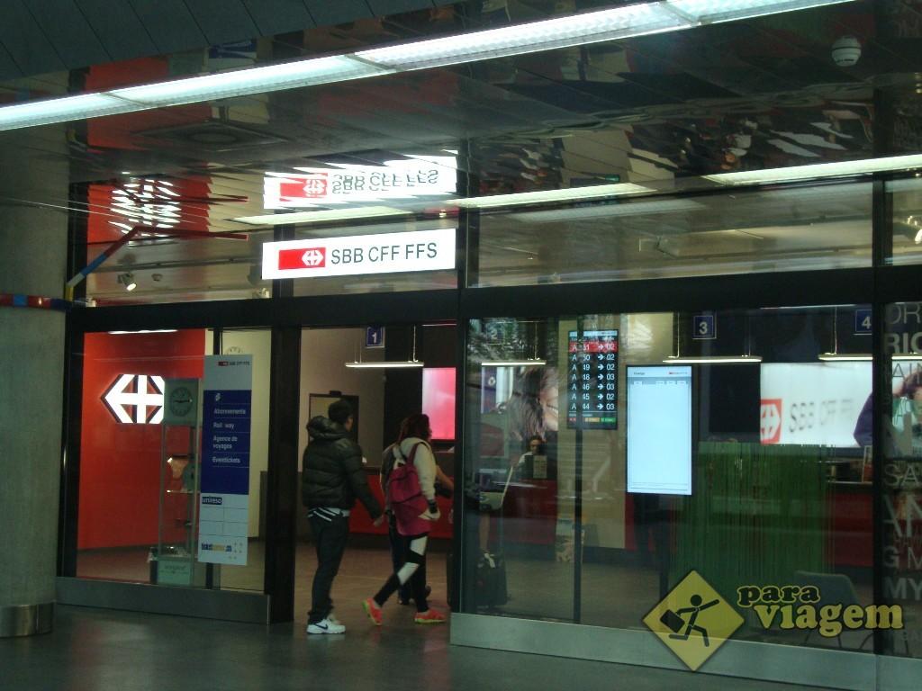Loja da SBB na estação de Genebra