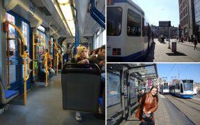 Tram: o bonde de Amsterdam