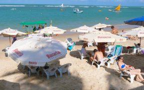 Barracas na Praia de Porto de Galinhas