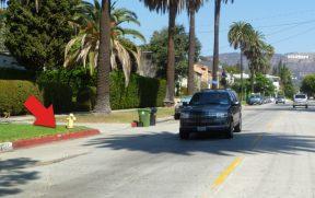 Calçada com Marcação Vermelha em Hollywood