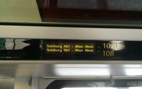 Este assento está reservado entre Salzburgo e Viena