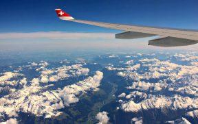 Voando sobre os Alpes