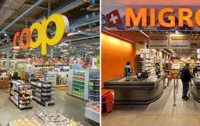 O Coop e o Migros são as 2 principais redes de supermercados da Suíça