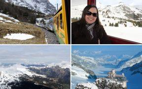 Subida ao Jungfraujoch (o mirante está na foto inferior direita)