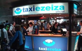 Stand do Taxi Ezeiza no Aeroporto