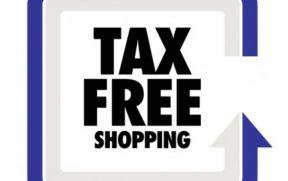 Procure pela logo Tax Free na vitrine das lojas