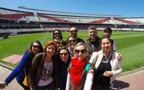 Blogueiros no Estádio Monumental