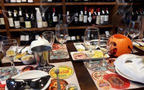 Degustação de Vinhos com Decoração de Halloween