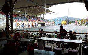 Vista do Restaurante para o Show do Velozes e Furiosos