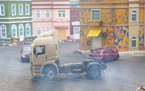 Caminhão no Show Velozes e Furiosos
