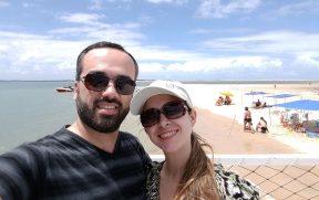 Casal na Ilha dos Namorados