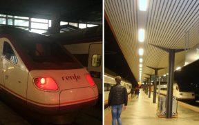 Trens da Renfe, a empresa que administra o serviço ferroviário na Espanha