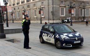 Polícia em Madrid